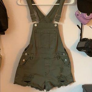 Denim - Pacsun overall shorts